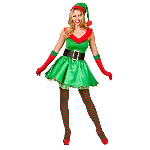 Santas Sexy Lil' Helper - Adult Costume Lady: XS (UK:6-8)