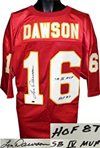 Len Dawson Autographed Hand Signed Kansas City Chiefs Red Prostyle Jersey HOF 87... by Hall of Fame Memorabilia