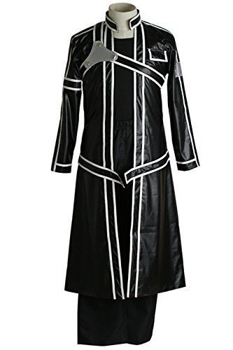 Black KIRITO Anime Cosplay Costume M Size CC466 by yi wu zi ping wigs.Co.LTD [並行輸入品]