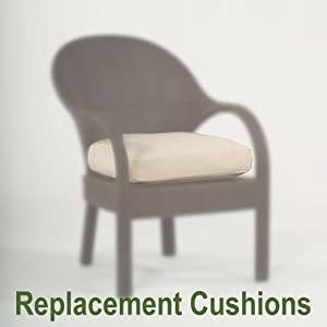 Replacement dining chairs chair pads cushions for Replacement dining room chair seats