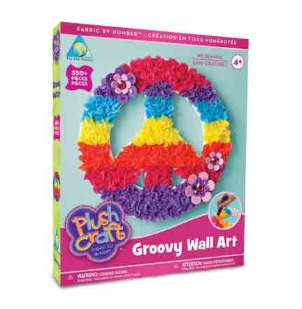 The Orb Factory Limited Plush Craft Groovy Wall Art