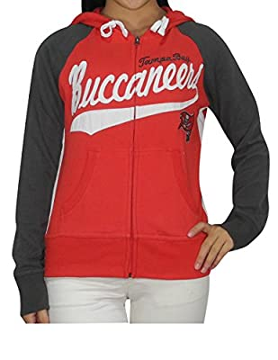 NFL TAMPA BAY BUCCANEERS Womens Athletic Warm Zip-Up Hoodie