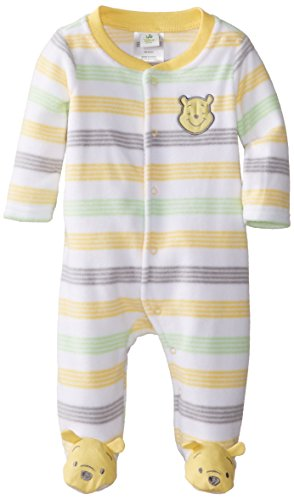 Disney Baby Unisex-Baby Pooh Microfleece Sleep And Play, Warm Yellow, 6/9 Months front-262410