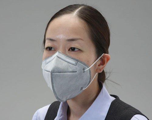 エスコ 簡易防臭マスク(立体型/25枚) EA800MF-48A