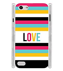 Colorful Love Soft Silicon Rubberized Back Case Cover for Oppo Neo 7