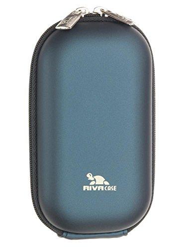 Riva Kamera Tasche Blau für Olympus Mju 300 Digital SchutzHülle Case Bag (7004)