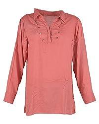 diya's Women's Other Regular Fit Kurti (DY66_Large, Pink, Large)