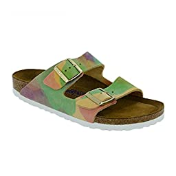 New Birkenstock Arizona SFB Summer Breeze Nubuck 41/10-10.5 N Womens Sandals