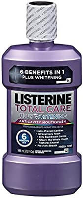 Listerine Total Care Plus Whitening Mouthwash, Fresh Mint, 32 Ounce