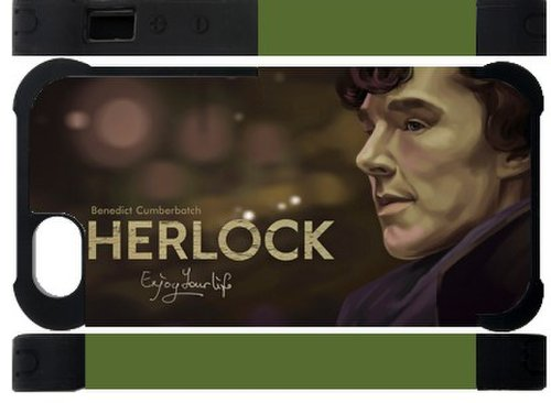 Best  Hot TV Show Sherlock Design Iphone 5 5S Dual-Protect Custom Cover Case