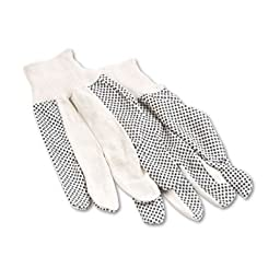 Men\'s PVC Dotted Canvas Clute Gloves, One Size, 12 Pairs, Sold as 12 Each
