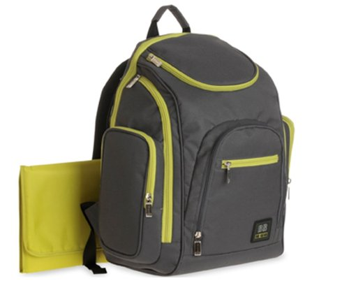 """Babyboom """"All Day"""" Diaper Backpack - gray/sage, one size - 1"""