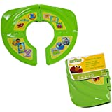Sesame Street Framed Friends Folding Potty Seat - For Standard Toilets - Regular For Home or Travel Use - 18 Plus Months - Green - Comes With Travel-Ready Bag