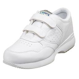 Propet Men\'s Life Walker Strap Sneaker,White,10.5 M (US Men\'s 10.5 D)