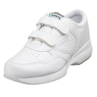 Propet Men's Life Walker Strap Sneaker,White,7 M (US Men's 7 D)
