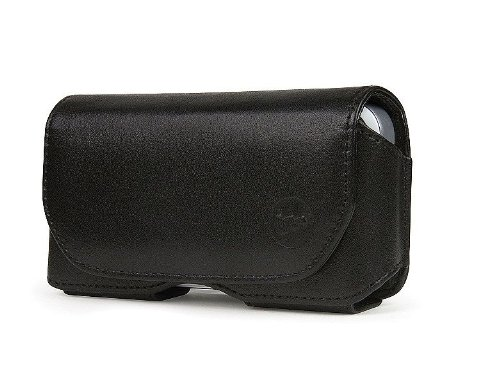 Great Price mophie Leather 7500 Folio Hip Holster Case for iPhone 5 with Juice Pack (Black)