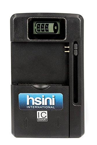 Hsini Universal Usb Wall Travel Spare Battery Charger With Lcd Indicator Screen For Samsung Galaxy S5 S4 S3 Note 3 Note 2 Lg G3 G2 Htc Nokia Motorola Cell Phone-1 Year Warranty