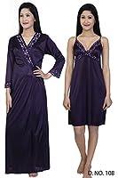Sweet Night Women's Night Dress 2 pcs (Design-108)