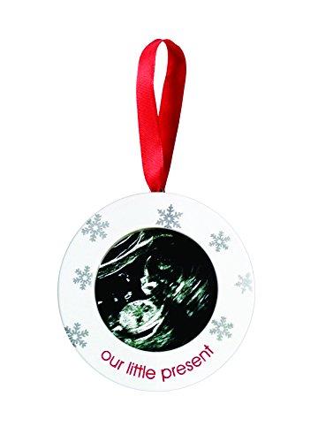 Pearhead Sonogram Keepsake Ornament, White - 1