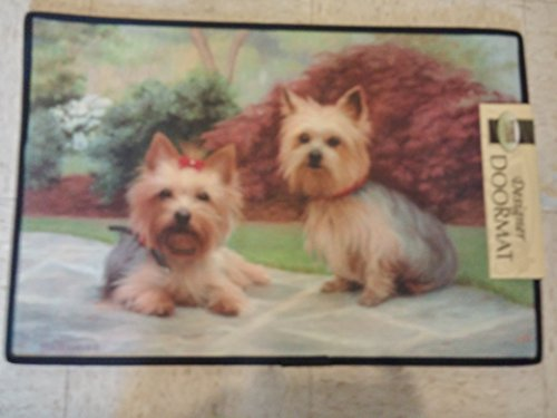 Yorkshire Terrier Dog Elbow Designer Door Mat, 18