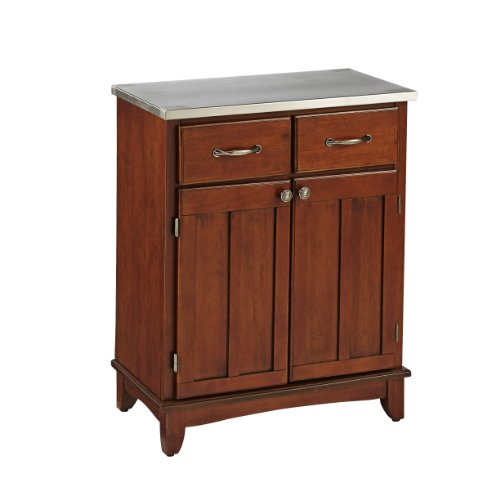 Home Styles 5001-0073 Buffet Of Buffets 5001 Series Buffet Server With Stainless Steel Top, Medium Cherry Finish