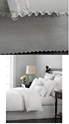 Martha Stewart Bed Skirt Queen Pintuck Eyelet White