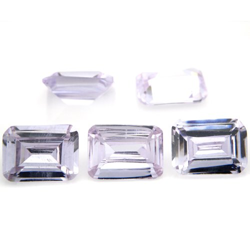 Octagon cut 5*7mm 20pcs Lavender Cubic Zirconia Loose CZ Stone Lot