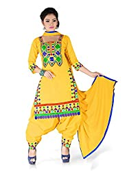 Labhde Women Cotton Dress Material (Labhdentngujyellow _Yellow _Free Size)
