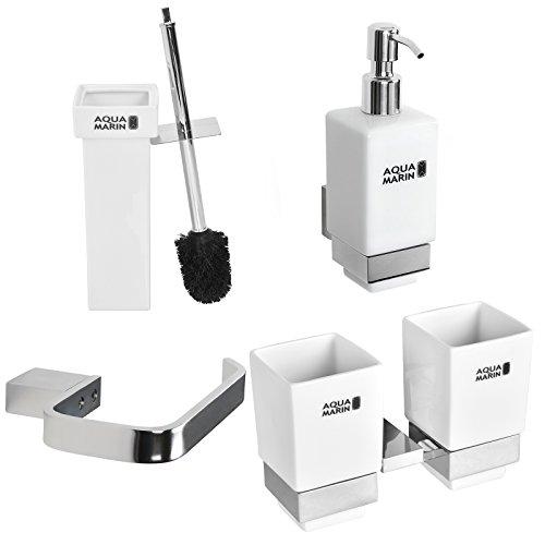 Aquamarin-4-teiliges-Badezimmerset-Toilettenset-WC-Garnitur