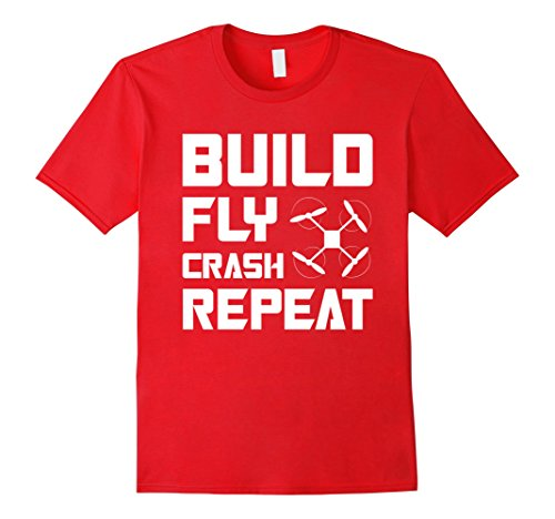 BUILD-FLY-CRASH-REPEAT-QUADCOPTER-DRONE-T-SHIRT