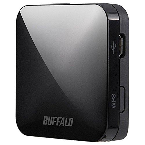 BUFFALO【iphone6 対応】11ac/n/a/b/g 無線LAN親機(Wi-Fiルーター)エアステーション QRsetup 433Mbps WMR-433-BK/N(利用推奨環境1人・ホテル用)