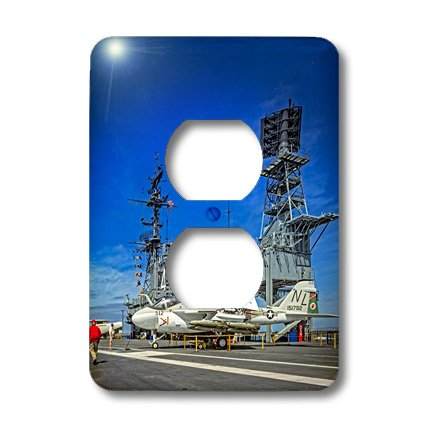 Lsp_200302_6 Boehm Photography History - Midway Carrier Ship Flightdeck - Light Switch Covers - 2 Plug Outlet Cover front-233631