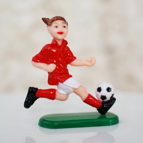 Soccer Player Cake Topper (1 Count) - Girl (Cake Decoration Accesories compare prices)