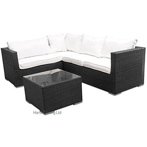 Harts-Large-Comfortable-Corner-Rattan-sofa-Garden-Patio-Furniture-Outdoor-Indoor-Black-Left