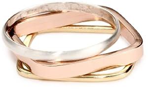 Bing Bang Mixed Metal Ring, Set of 3, Size 6