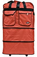 Hipack Travel Rolling Duffle Bag Large (RED Color)