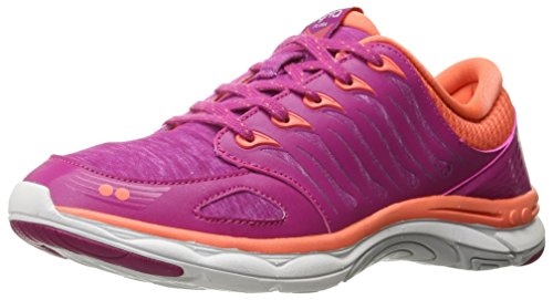 RYKA Women's Flora Walking Shoe,Pink/Coral/White,8 M US
