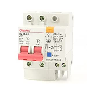 AC 400V 63A 2 Poles Overload Protection ELCB Earth Leakage Circuit Breaker
