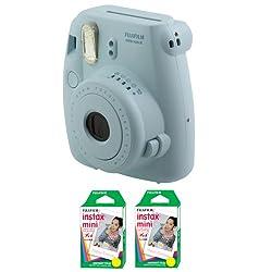 Fujifilm FU64-MINI8BLK40 INSTAX MINI 8 Camera and Film Kit with 40 Exposures (Blue)