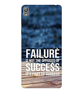 EPICCASE Failure is part of success Mobile Back Case Cover For Sony E5 (Designer Case)