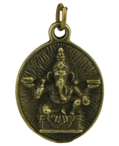 Brass Finish Metal Ganesh Om Pendant