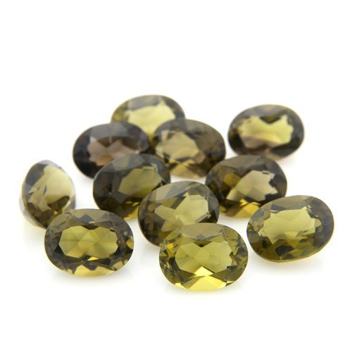 Natural Smoky Quartz Loose Gemstone Oval Cut 8*6mm 12.95cts 11pcs Wholesale Lot