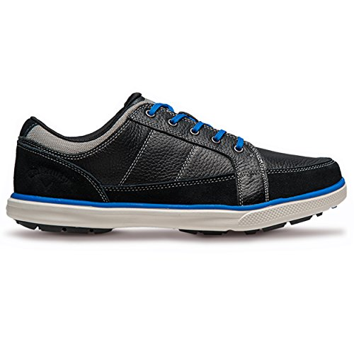 Callaway Footwear Men's Del Mar Sport Golf Shoe, Black/Black, 10 M US