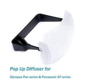 Ezfoto White Pop-Up Flash Diffuser for Olympus Pen and Panasonic Lumix
