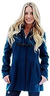 Jessica Simpson Womens Wool Peacoat Toggle Jacket
