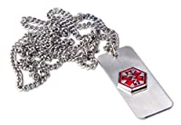 "Medical Alert Emergency ID Necklace - ""Bee Sting Allergy"" By Apex Healthcare Products"