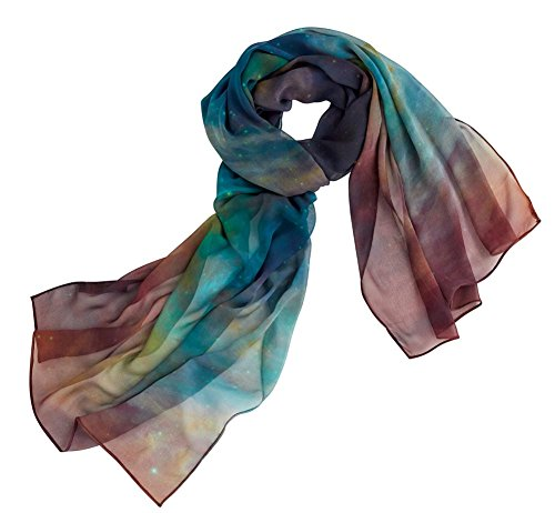Hubble Hand Painted Pure Silk Scarf