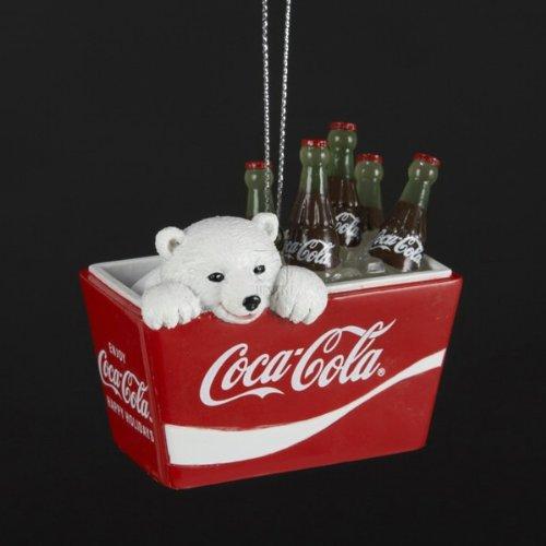 Coca-Cola Kurt Adler Polar Bear Cub In Coke Cooler Ornament, 2.75-Inch front-164949