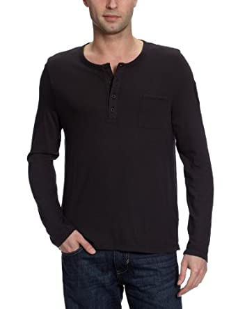 Strellson Sportswear Herren Langarmshirt J-Titus 14000371, Gr. 50 (M), Schwarz (911)