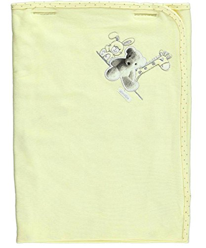 "Absorba ""Teddy Pic"" Receiving Blanket - yellow, one size"